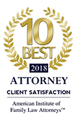 10 Best, Client Satisfaction, American Institute of Family Law Attorneys™
